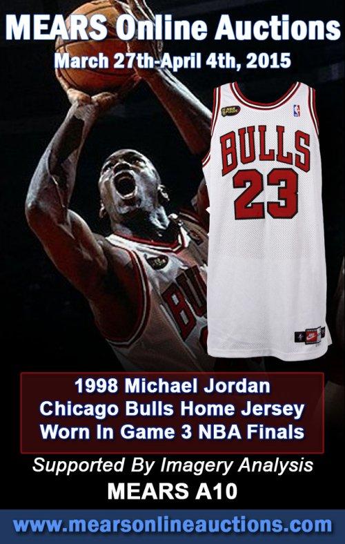 size 40 04886 402ac Rare 1998 Michael Jordan Chicago Bulls Game Worn NBA Finals ...