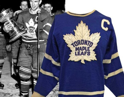 "1950s ""Teeder"" Kennedy Maple Leafs Wool Captain's Sweater?   Single Owner Provenance • Sourced Directly From The Team In The 50s"