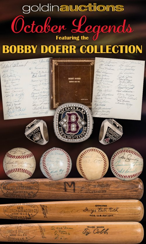 The Bobby Doerr Collection Exclusively at Goldin Auctions October ... 6efc47932