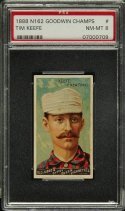 1888 N162 Goodwin Champs Tim Keefe PSA 8 NM-MT