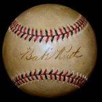 Babe Ruth Single Signed Early 1920s Baseball