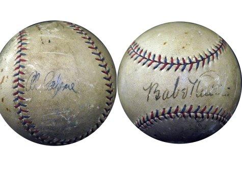 Ruth-Capone Signed Baseball