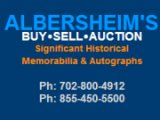 Seeking Consignments for Albersheim's Spring 2015 Auction
