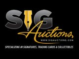 Sig Auctions Auction Offers 800+ Lots of Autographs and More Ends May 17th