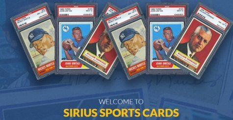 Sirius Sports Cards Auction of Vintage Graded Cards Ending December 20, 2018
