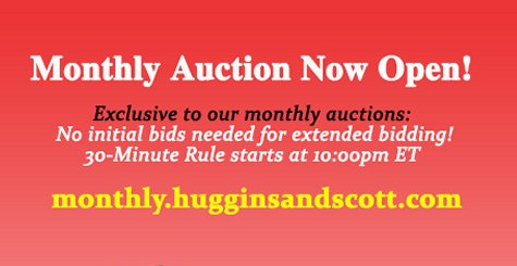 Huggins and Scott's December Monthly Auction In Progress – Concludes on Dec. 16, 2018