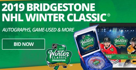 2019 NHL Winter Classic Auction of Game-Worn Jerseys and Goal Pucks – Ends January 23, 2019
