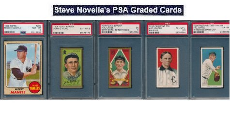 Steve Novella Misc. Auction of T206, T205, 1968 Topps PSA 10 Mantle and More – Ends December 13, 2018