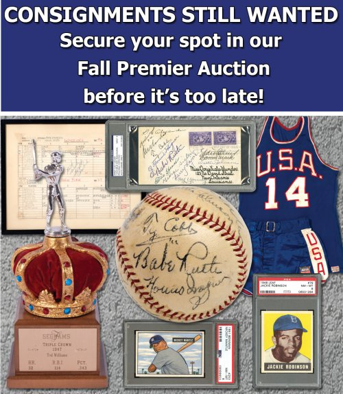 SCP Auctions Accepting Consignments – November 1, 2019 Deadline – Auction  Report